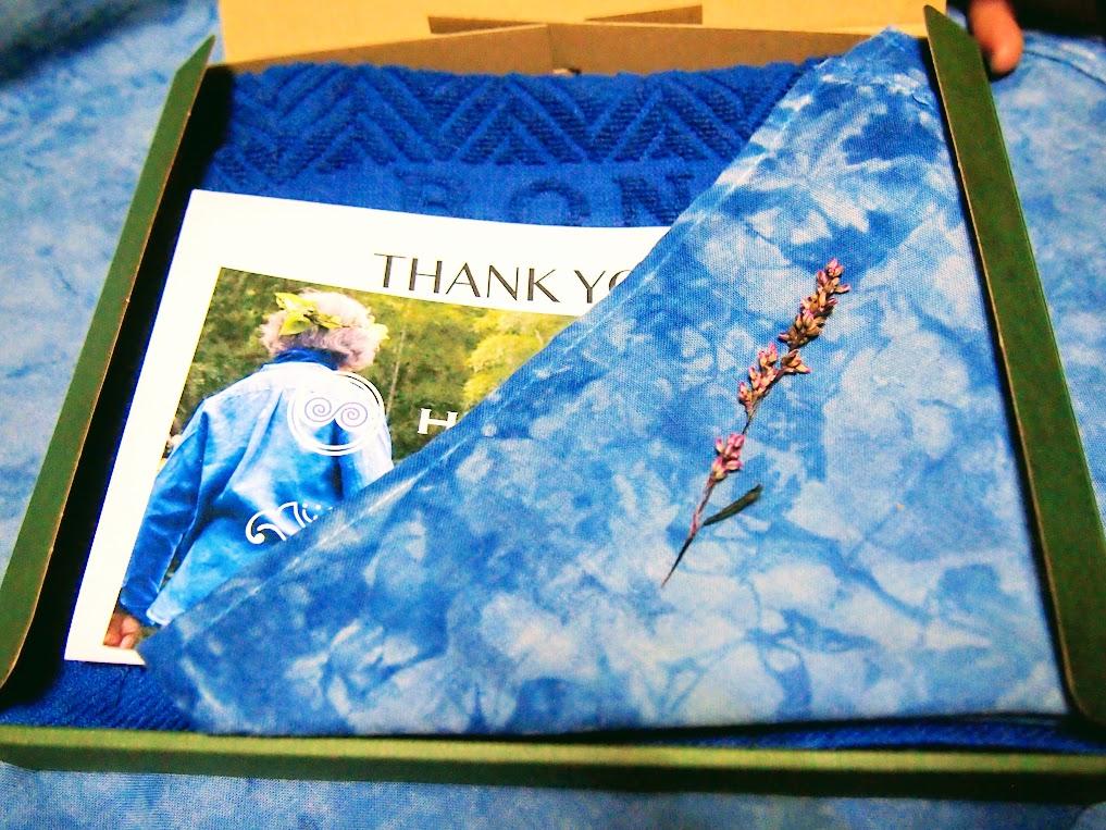 藍染タオル&ハンカチ 御注文有難うございました!